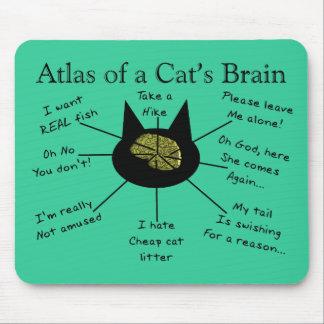Atlas del cerebro de un gato alfombrillas de ratón
