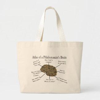 Atlas del cerebro de un Phlebotomist Bolsa De Tela Grande