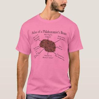 Atlas del cerebro de un Phlebotomist Playera