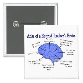 Atlas del cerebro de un profesor jubilado pin cuadrado