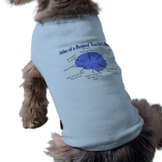 Atlas del cerebro de un profesor jubilado playera sin mangas para perro