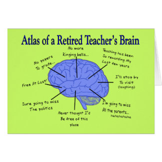 Atlas del cerebro de un profesor jubilado felicitaciones