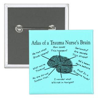 Atlas del cerebro de una enfermera del trauma pin cuadrado