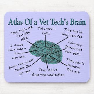 Atlas del cerebro de una tecnología del veterinari alfombrillas de raton