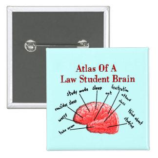 Atlas del cerebro del estudiante de Derecho Pin Cuadrado