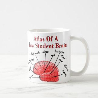 Atlas del cerebro del estudiante de Derecho Taza Clásica