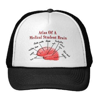 Atlas del cerebro del estudiante de medicina gorro de camionero
