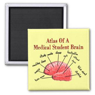 Atlas del cerebro del estudiante de medicina imán para frigorífico