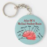 Atlas del cerebro del estudiante de medicina llavero personalizado