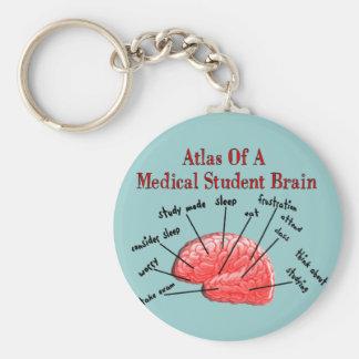 Atlas del cerebro del estudiante de medicina llavero redondo tipo pin