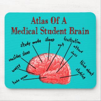 Atlas del cerebro del estudiante de medicina tapete de raton