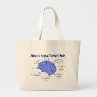 Atlas del cerebro Gfits de un profesor jubilado Bolsas De Mano