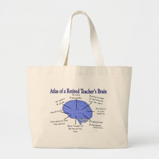 Atlas del cerebro Gfits de un profesor jubilado Bolsa Tela Grande