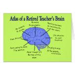 Atlas del cerebro Gfits de un profesor jubilado Felicitación