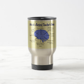 Atlas del cerebro Gfits de un profesor jubilado Taza De Café