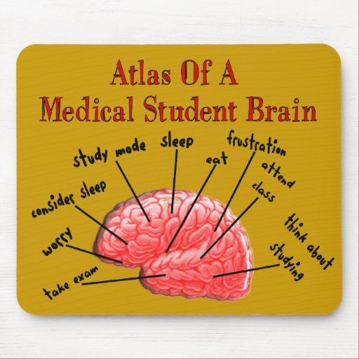 Atlas del cerebro Mouspad del estudiante de medici Alfombrilla De Ratones