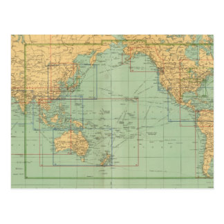 Atlas del infante de marina mercantil del mapa de postal
