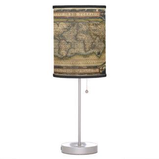 Atlas del mapa del mundo del vintage histórico lámpara de mesilla de noche