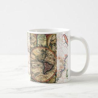 Atlas del mundo taza clásica