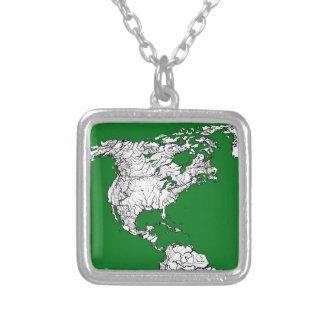 atlas del mundo verde collar personalizado