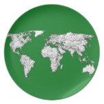 atlas del mundo verde platos para fiestas