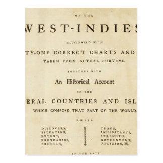 Atlas del oeste de la India de la página de título Postal