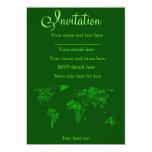 Atlas del verde de musgo invitación 12,7 x 17,8 cm