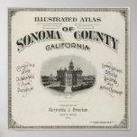 Atlas el condado de Sonoma, California de la págin Impresiones