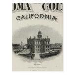 Atlas el condado de Sonoma, California de la págin Postal