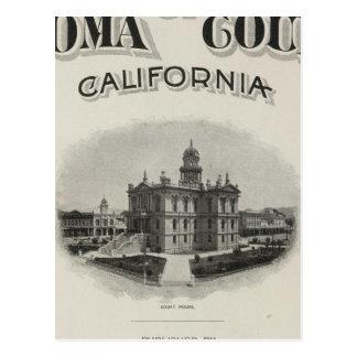 Atlas el condado de Sonoma California de la págin Postal