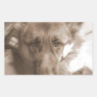 Atlas el Wonderdog Pegatina Rectangular