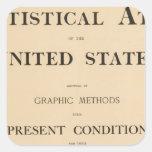 atlas estadístico pegatina cuadrada