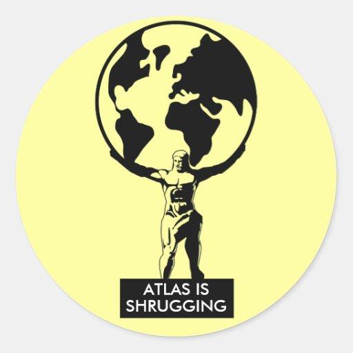Atlas Etiqueta Redonda