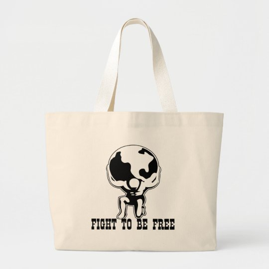 Atlas Fight To Be Free Large Tote Bag