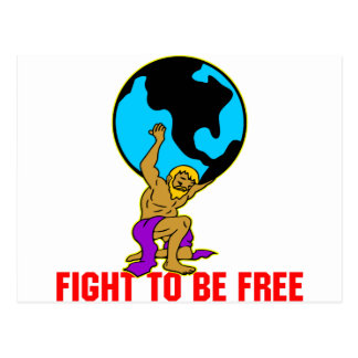 Atlas Fight To Be Free Postcard