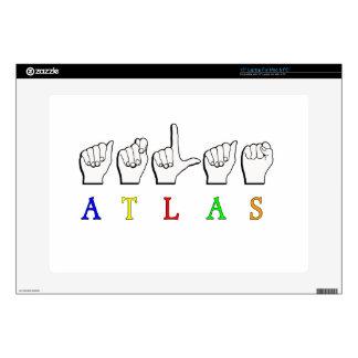 "ATLAS FINGERSPELLED ASL NAME 15"" LAPTOP SKIN"