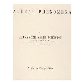 Atlas físico de la página de título de fenómenos n tarjetas postales