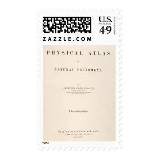 Atlas físico de la página de título de fenómenos timbre postal