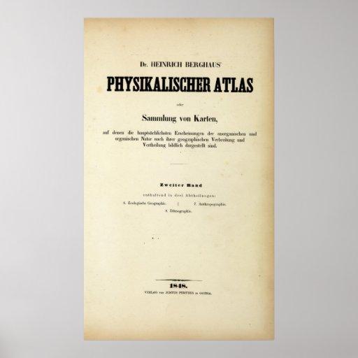 Atlas físico v 2 de la página de título poster