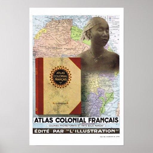 Atlas francés de COlonoal del francés del anuncio Impresiones