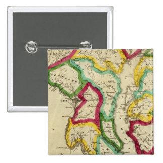 Atlas general de Maryland Pin Cuadrado