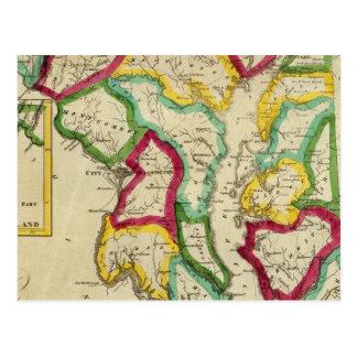 Atlas general de Maryland Tarjetas Postales