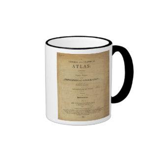 Atlas general y clásico de la página de título taza de café