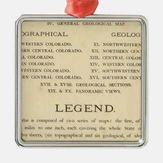 Atlas geológico y geográfico de Colorado Ornamentos Para Reyes Magos