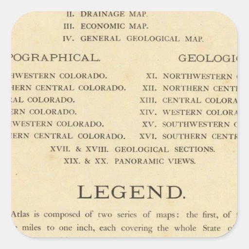 Atlas geológico y geográfico de Colorado Colcomanias Cuadradass