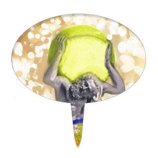 Atlas God and tennis ball Cake Topper