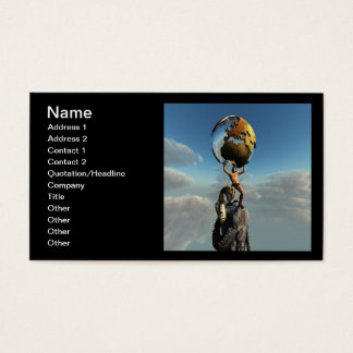 Atlas Greek God Business Card