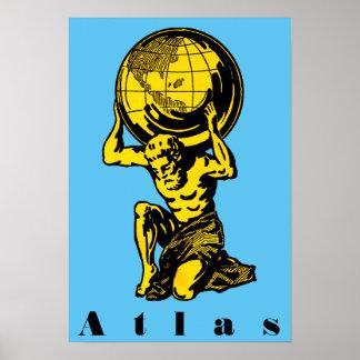 Atlas Greek Mythology Inspirational Poster
