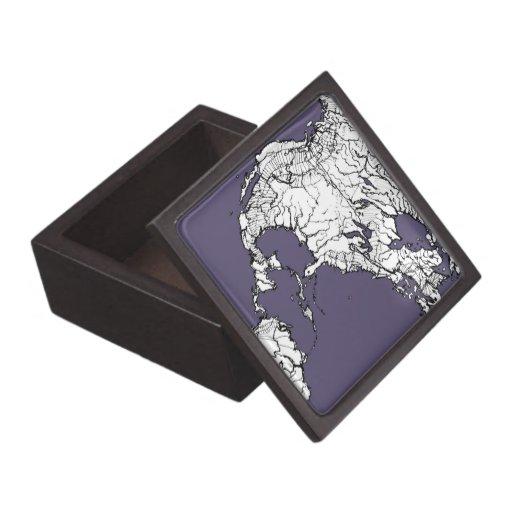 atlas gris de la lila caja de recuerdo de calidad