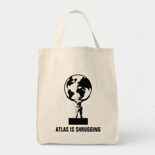 Atlas Grocery Tote Bag